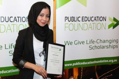 Public Education Foundation scholarship recipient Zahra Kamali