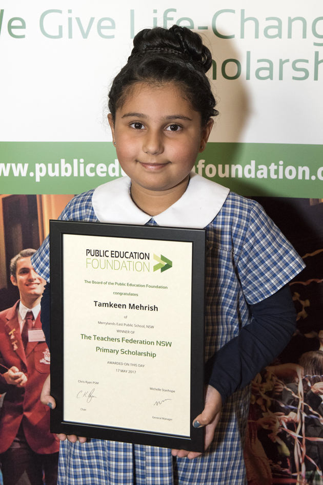 PEF Scholarship winner Tamkeen Mehrish