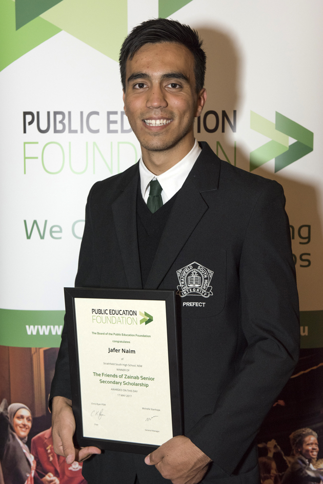 PEF Scholarship winner Jafer Naim